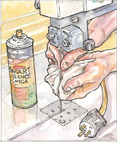 How to Use Cooking Spray to Prevent Rust and Lubricate a Bandsaw Blade