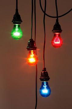 Lamps, Home Lighting, + Sconces Cool Hanging Lights, Hanging Light Bulbs, String Lights, Ceiling Lights, Thing 1, Incandescent Light Bulb, Mason Jar Lamp, Home Lighting, Wall Sconces