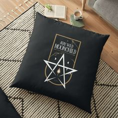 'Stay Wild Moonchild' Floor Pillow by Bad Box Stay Wild, Moonchild, Nurse Gifts, Wicca, Floor Pillows, Art Boards, Box, Poster, Floor Cushions
