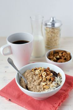 Eat Pray Love, Overnight Oats, Smoothie Bowl, Cereal, Oatmeal, Food And Drink, Pudding, Healthy Recipes, Breakfast