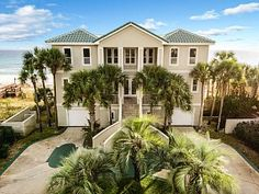 Destin House Rental: Castle On The Beach- Gulf Front, Sleeps 23! Great For Family Reunions | HomeAway