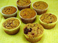 Sweet Potato  Cranberry Muffins. Heart Healthy Recipe @ thetastyfork.com