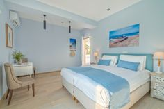 """Entire home/apt in Kolimvari, Greece. Two new studios/suites on the water/on the beach, with walking distance to """"everything"""". News Studio, Greece, The Unit, Bed, Room, Furniture, Home Decor, Greece Country, Bedroom"""