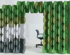 Whimsical, and ecological too. Nomad modular cardboard screen, by MIO. Design: Jaime Salm & Roger Allen