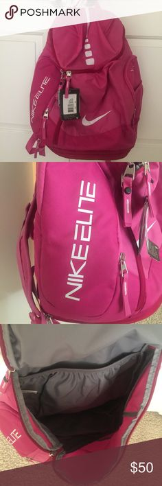 nike elite pink backpack