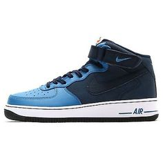 Nike Air Force 1 Mid '07 Mens 315123-406 Blue Obsidian Shoes Sneakers Size 9.5