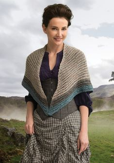 Outlander the Series Kit: Lavish Mac Kenzie Clan Shawl (Crochet). Each kit includes all the yarn you need for the project, as well as a copy of the pattern.