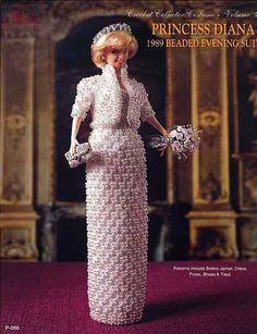 266039fdef9 Princess Diana 1989 Beaded Evening Gown Vol 49 Paradise Crochet Pattern
