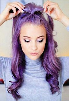 16 Gorgeous Examples of the Lavender Hair Color Trend - Hair hair hair, I love hair - Lavender Hair Colors, Hair Color Purple, Cool Hair Color, Green Hair, Blue Hair, Faded Purple Hair, Purple Hair Tips, Vivid Hair Color, Purple Dye