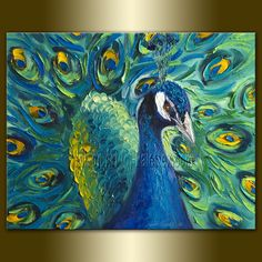 oil painting peacock - Google Search
