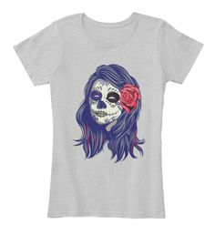 Beautiful Women T Shirt,Tank,Tops Light Heather Grey Women's T-Shirt Front