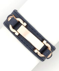Look what I found on #zulily! Navy Blue & Rose Gold Clasp Bracelet by R U S H By DENIS & CHARLES #zulilyfinds