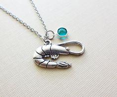 Lobster Necklace Animal Nautical Sea BFF by BelieveInGoodKarma