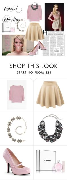 """Scream Queens Style Chanel Oberlin 2"" by natalihailey ❤ liked on Polyvore featuring French Connection, LE3NO, Streets Ahead, Chico's and Chanel"