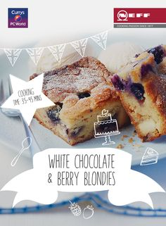 These amazing White Chocolate & Berry Blondies were made in the iconic Neff Slide & Hide oven. Here's how to whip up a batch of your own… @biybyneff