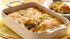 Nothing warms you like hearty chicken pot pie.  This one's loaded with vegetables and has a tender, flaky crust made with Bisquick® mix.