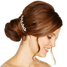 Jon Richard Crystal embellished floral hair comb- at Debenhams.com