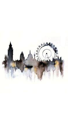 London SH,  #London #WatercolorPaintingwallpaper
