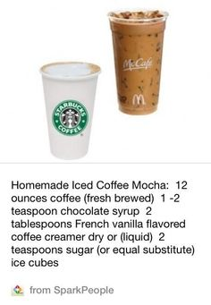 How to make a homemade iced coffee mocha - #Coffee, #Mcdonalds, #Mocha ...
