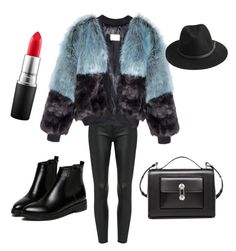 """Untitled #7"" by elifhatun-eh on Polyvore featuring Balenciaga, BeckSöndergaard and MAC Cosmetics"