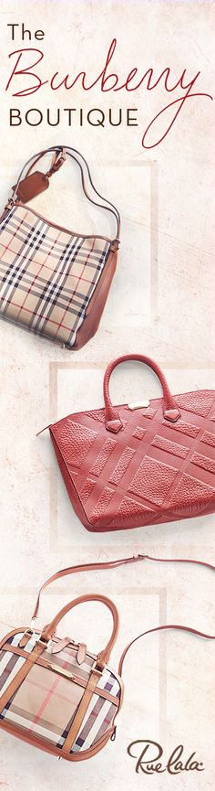 Score classic Burberry fall staples on Rue La La, from warm scarves to tartan handbags. Join Rue La La today to check it out.