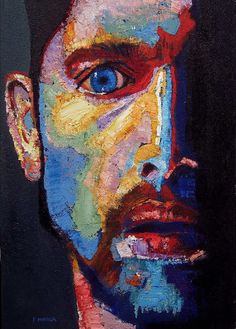 """""""1984"""" painted by Fabio Modica size 60cm by90cm."""