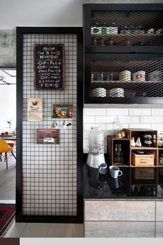 Rustic Industrial Kitchen - As one of the most crucial areas in a house, the kitchen always needs a lot of attention from the homeowner. Industrial Interior Design, Vintage Industrial Furniture, Industrial Interiors, Industrial House, Industrial Style, Kitchen Industrial, Industrial Lighting, Modern Lighting, Lighting Ideas