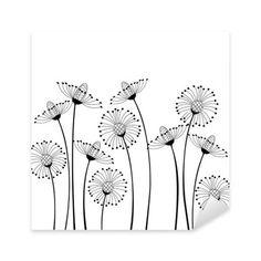 Flower Embroidery Pattern drawing stylized / cartoon flowers / dandelions - Meadow flowers on white background Dandelion Drawing, Plant Drawing, Drawing Flowers, Flower Design Drawing, Flower Garden Drawing, Grass Drawing, Flower Pattern Drawing, Flower Drawings, Drawing Drawing