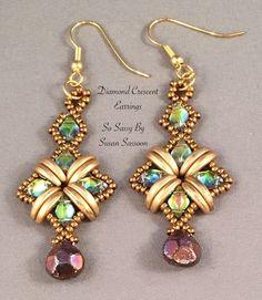 Diamond Crescent Necklace Bracelet and Earrings Tutorial