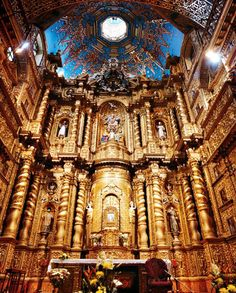 Quito's La Compañía, built by the Jesuits between 1605 and 1765.