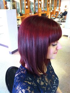 Inspirational photo by Jamie Skavlem. #mediumcut #purple #bangs @Bloom.com
