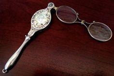 Fine Repousse Sterling Silver Lorgnette Opera Glasses Victorian Nouveau | eBay