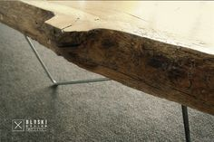 so close to nature... Bloski design - coffee table made with oak and steel