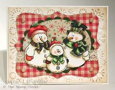 Snow family Christmas by SophieLaFontaine - Cards and Paper Crafts at Splitcoaststampers