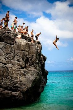 The Rock at Waimea Bay North Shore, Oahu! A good rush, but have jumped off better!