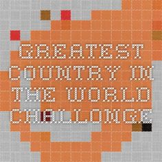 Greatest Country in the World - Challonge