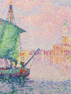 """Venice, the Pink Cloud"" (detail), 1909, Paul Signac. Taken at the Albertina Museum, Vienna."
