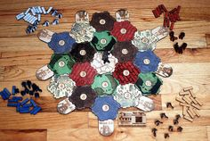 Wood Catan Board! by mysterybaer, via Flickr