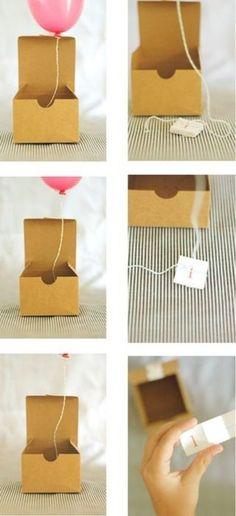 Balloon in a Box Invitations