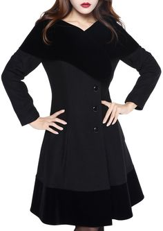 Coat by Amber Middaugh Standard Size $79.95 Plus Size$95.95  Wool and Velvet