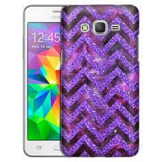 Samsung Grand Prime Nebula on Chevron Glitter Purple Case
