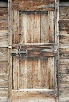 Rustic door with steel lift latch~