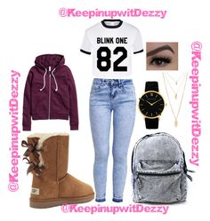 """""""Chill type of day"""" by keepinupwitdezzy on Polyvore featuring polyvore, fashion, style, New Look, H&M, UGG Australia, Larsson & Jennings, Forever 21, Lime Crime, women's clothing, women's fashion, women, female, woman, misses and juniors"""