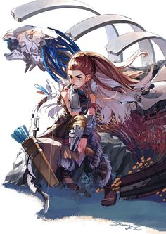 - pick a quest - rpg community - horizon zero dawn. Overwatch, Horizon Zero Dawn Wallpaper, Geeks, Desenho New School, Horizon Zero Dawn Aloy, Fanart, Grafiti, Video Game Art, Post Apocalyptic