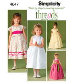 Simplicity Pattern 4647-Child's Special Occasion Dres-Sz 5-8