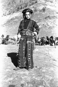 Boy from the Kurdish Herki Tribe in traditional Clothes. Iraq, 1950. Pitt Rivers Museum, University of Oxford.