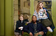 Cara Delevingne, Pharrell Williams & Hudson Kroenig by Karl Lagerfeld for Chanel Métiers D'Art Campaign