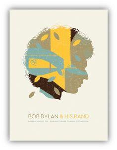 Bob Dylan concert poster by Vahalla Studios
