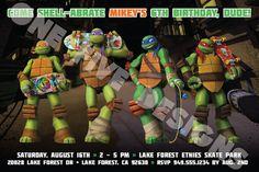 Items similar to Nickelodeon Teenage Mutant Ninja Turtles Printable Birthday Invitation on Etsy Ninja Turtle Invitations, Birthday Invitations, Ninja Turtle Party, Lake Forest, 8th Birthday, Teenage Mutant Ninja Turtles, Jr, Party Themes, Superhero