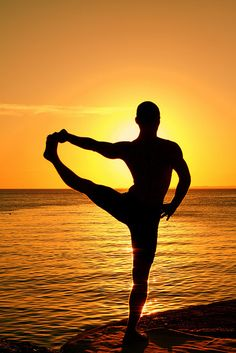 beautiful yoga male sunset beach guy man on Flickr by Alexandre Huang